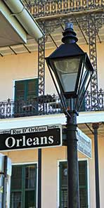 Lamppost in New Orleans, French Quarter